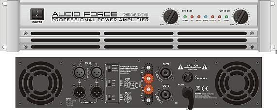Усилители мощности Audio Force MH 6200 silver