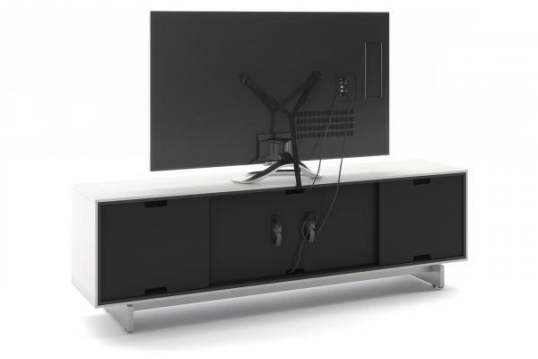 Дизайнерская тумба под ТВ BDI Align Satin White (7479) Media, Стойка 4-секционная под телевизор