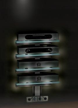 Крепления для аудио/видео аппаратуры Antall INSTALL-07/5 матовое стекло-черный