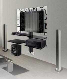 Крепления для аудио/видео аппаратуры Antall INSTALL-08 прозрачное стекло-черный