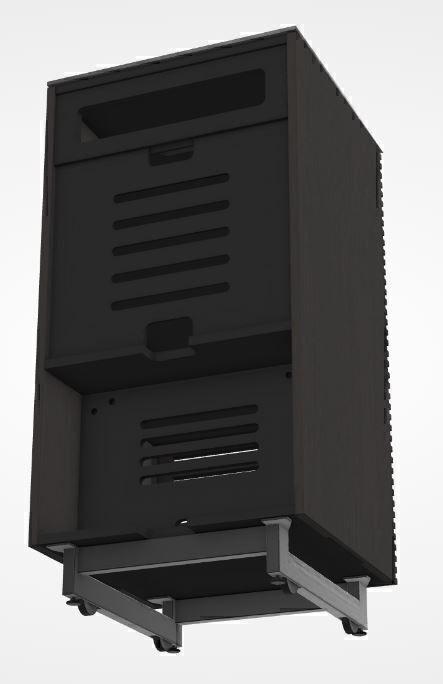 BDI Corridor 8172 Charcoal Stained Ash, Тумба для аудиоаппаратуры