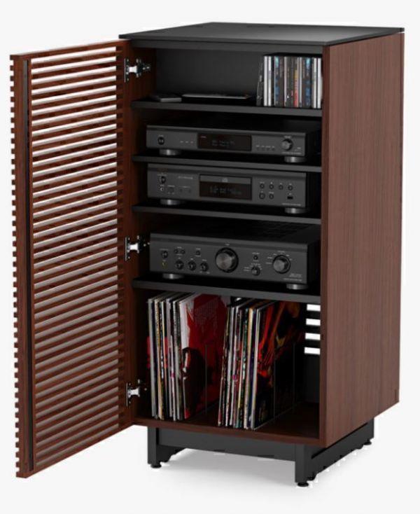 BDI Corridor 8172 Chocolate Stained Walnut, Тумба для аудиоаппаратуры