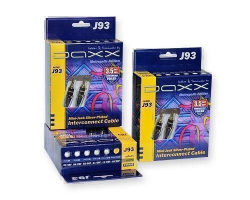 Аудиокабели Jack Daxx J93-15 Посеребренный аудио кабель Mini-Jack (папа-папа), AUX 1,5m blue