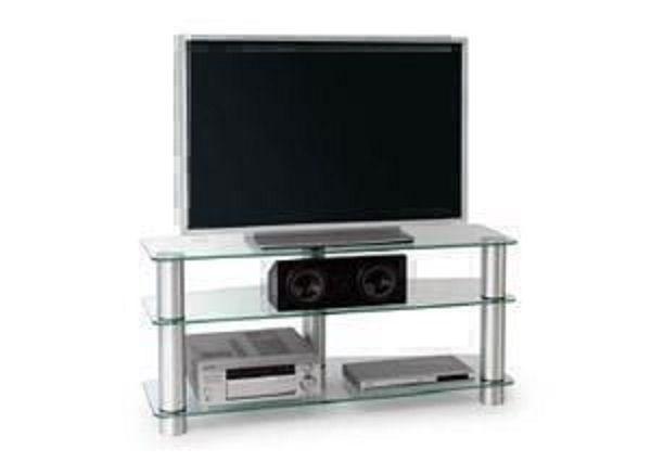 Metaldesign MD 527 матовое стекло - алюминиевые ножки Тумбы под телевизор