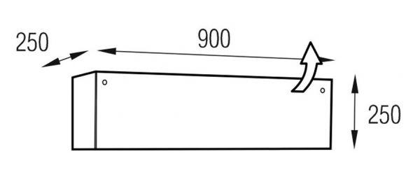 Metaldesign MD 600.0914-B (без гравировки) Planima чёрное стекло - чёрный корпус Подставки под CD/DVD
