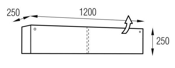 Metaldesign MD 601.1214-B (без гравировки) Planima черный Подставки под CD/DVD