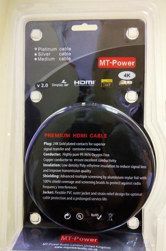 HDMI/HDMI кабели MT-Power HDMI Platinum 2.0 1.5m