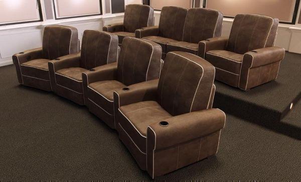 Кресла для домашнего кинотеатра Salamander Isabella, без регулировки, кожа премиального качества, контрастная окантовка шва